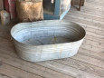 Oval Galvinized Tub