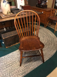 PA Bamboo Turned 9 Spindle Windsor Chair Branded W.Cox