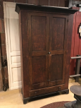 Early 2 Door Tall Wardrobe with Drawers and Added Shelves