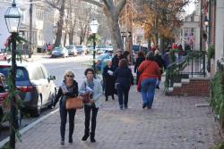 Walking on Market Street