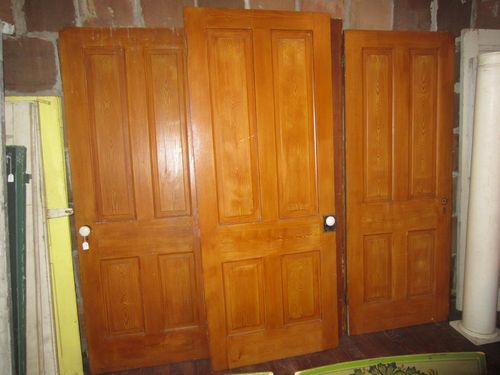 Early Painted 4 Panel Doors