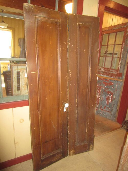 Early Single Panel Painted Doors