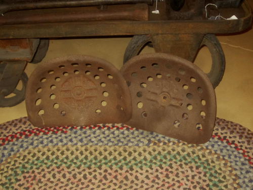 2 Old Tractor Seats
