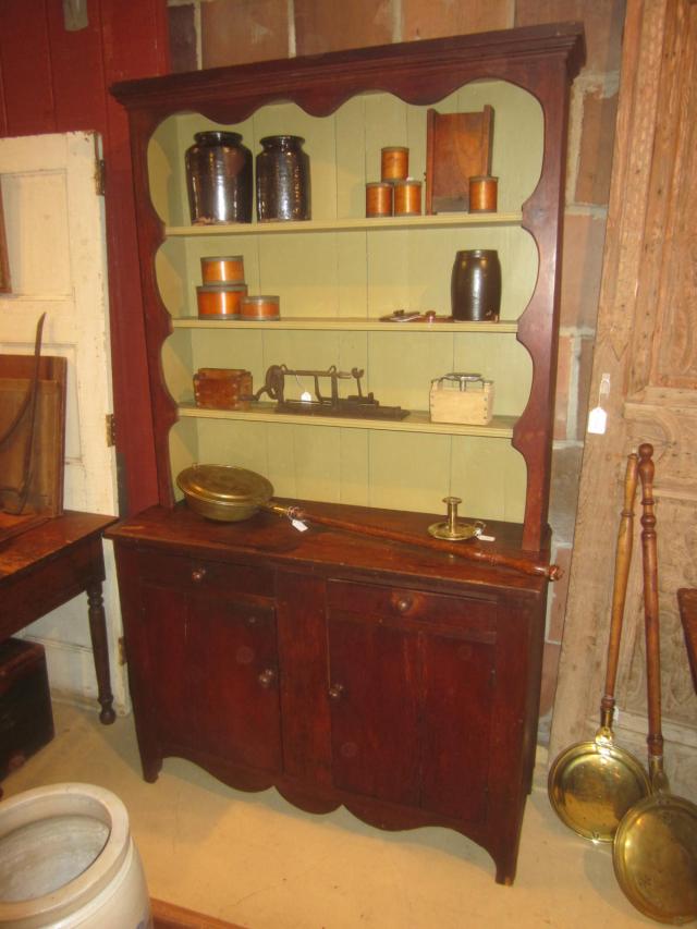 19th Century 2 Piece Stepback Cupboard