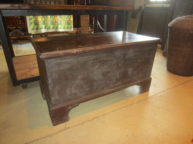 19th Century Dovetailed Blanket Chest with Bracket Feet