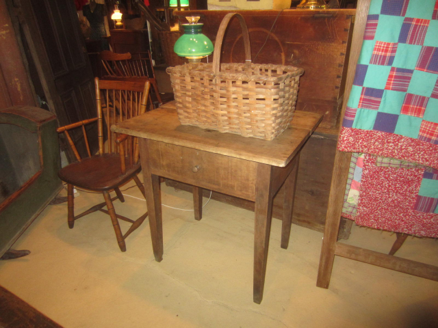 19th Century One Drawer Work Table in Original Surface