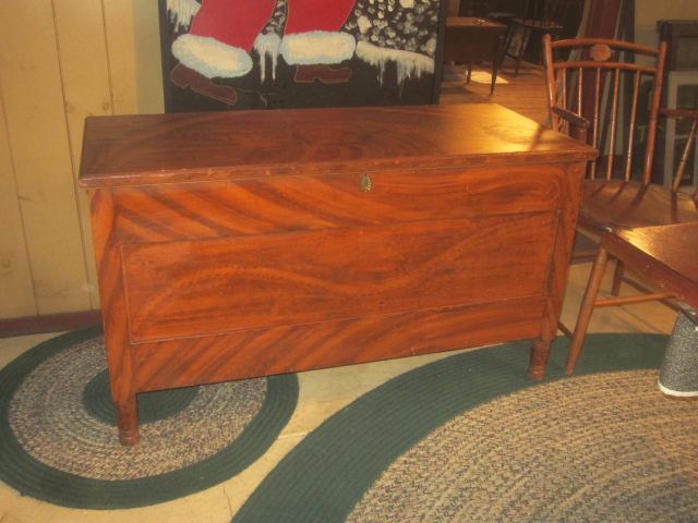 19th Century Paneled Blanket Chest, Original Paint with Til & Drawer