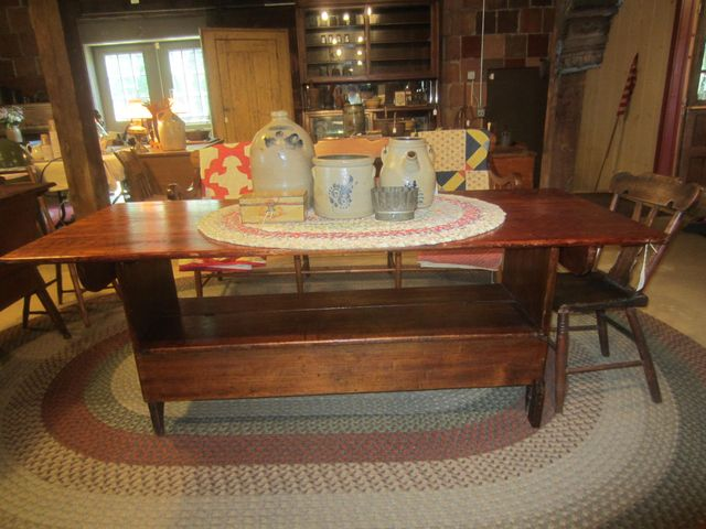 19th Century Pine Bench Table