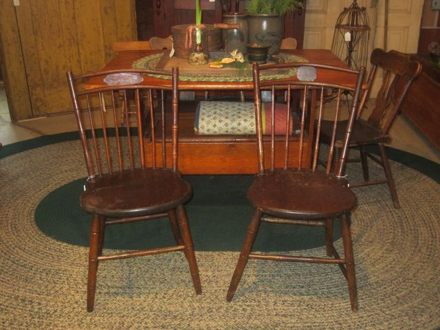 Early 19th Century Bamboo Turned, Butterfly Back Windsor Chairs
