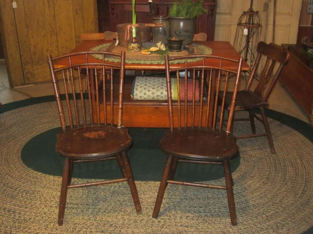 Early 19th Century Bamboo Turned Rod Back Windsor Chairs