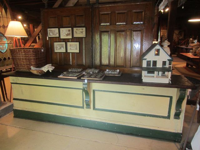 Early Painted Store Counter