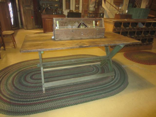 Early Sawbuck Table