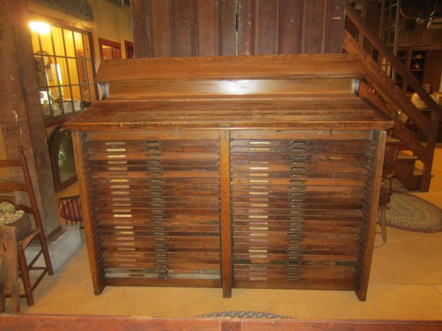 Printer's Cabinet with 48 Drawers - Furniture 2018: Hamilton Mfg.Co. Printer's Cabinet With 48 Drawers