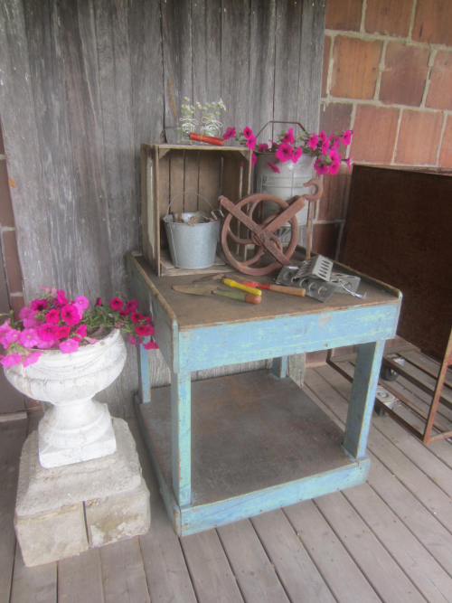 Another style cart could be used for potting table.