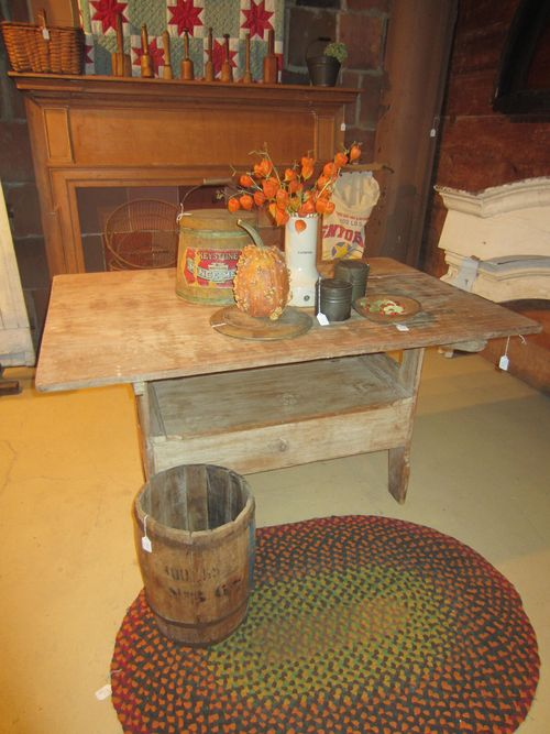 Old Pine Bench Table