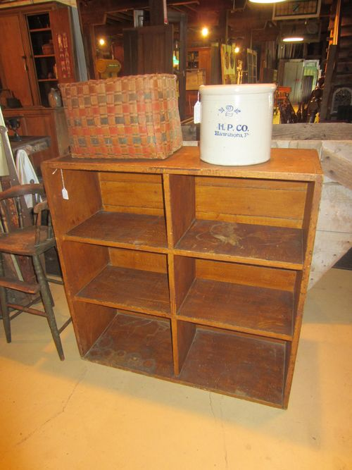Early Grained Painted Cubby