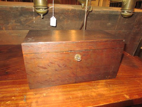 Old Document Box with Key